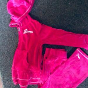 Like new girls Puma outfit